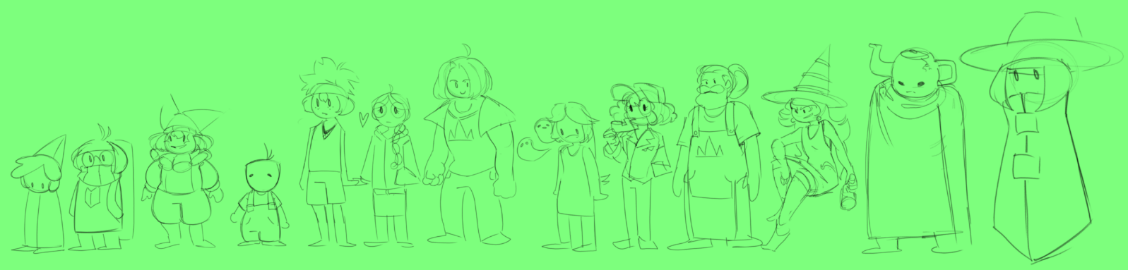 Some of the cast. Sorry this alt-text isn't very helpful.